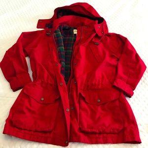 Eddie Bauer Vintage 90's Red Jacket Hood Winter